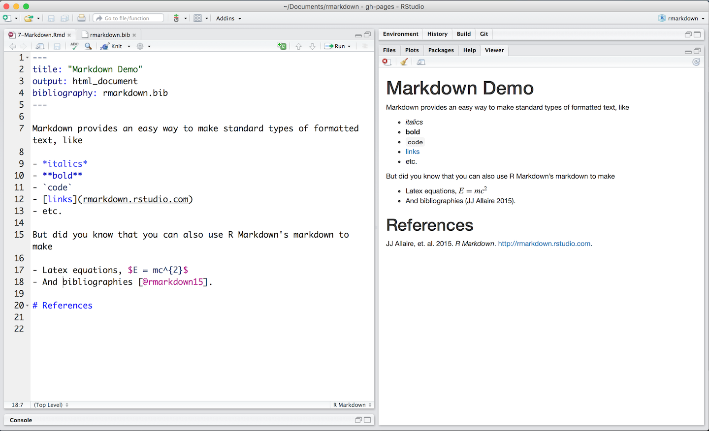 Markdown basics for Table markdown